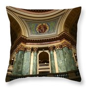 Wisconsin State Capital Building 1  Throw Pillow