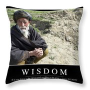 Wisdom Inspirational Quote Throw Pillow by Stocktrek Images