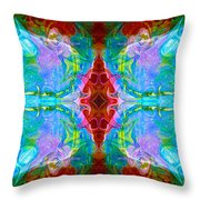 Wisdome And Mystery Abstract Pattern Artwork By Omaste Witkowski Throw Pillow