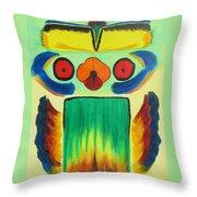 Wise Bird Totem Throw Pillow