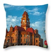 Wise County Courthouse Throw Pillow