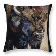 Wise Plains Drifter Throw Pillow