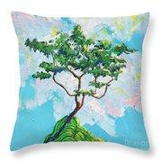Wish Bone Tree Throw Pillow