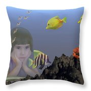 Wish I Could Swim Throw Pillow