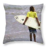 Wishin Waves Throw Pillow
