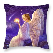 Wishing Star Variant 2 Throw Pillow by Andrew Farley