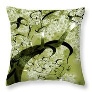 Wishing Tree Throw Pillow by Anastasiya Malakhova