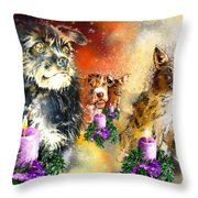 Wishing You A Blessed Advent Throw Pillow