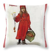 Wishing You Health Wealth And Happiness Greeting Card Throw Pillow