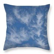 Wispy Clouds Throw Pillow