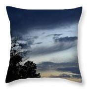 Wispy Clouds One December's Eve Throw Pillow