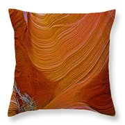 Wispy Relic In Lower Antelope Canyon In Lake Powell Navajo Tribal Park-arizona   Throw Pillow