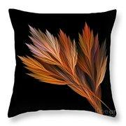 Wispy Tones Of Autumn Throw Pillow