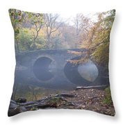 Wissahickon Creek And Bells Mill Road Bridge Throw Pillow