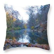 Wissahickon Creek - Fall In Philadelphia Throw Pillow
