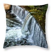 Wissahickon Dam At Ridge Avenue - Side View Throw Pillow