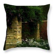 Wisteria In Moonlight Throw Pillow