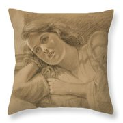 Wistful - Drawing Throw Pillow