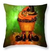 Witch Cupcake 4  Throw Pillow
