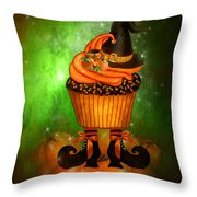 Witch Cupcake 6 Throw Pillow