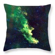 Witch Head Nebula Throw Pillow by Georgia Fowler