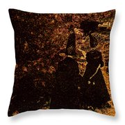 Witch Walk 2 Throw Pillow