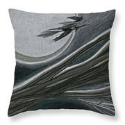 Witches' Branch Grey By Jrr Throw Pillow