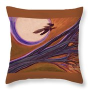 Witches' Branch Purple Throw Pillow