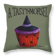 Witches Hat Tasty Morsel Cupcake Throw Pillow