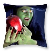 Witch's Apple Throw Pillow
