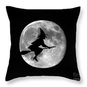 Witchy Moon Throw Pillow