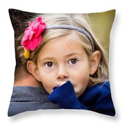 With Dad - Color Throw Pillow