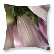 With Foxglove Throw Pillow