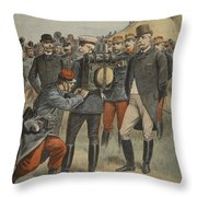 With The Army Manoeuvres The Duke Throw Pillow