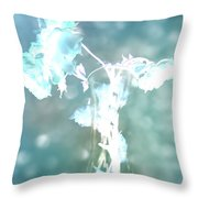 Withering Away - Aqua Sparkle Throw Pillow