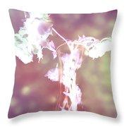 Withering Away - Magenta Sparkle Throw Pillow