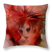 Within A Glass Heart Throw Pillow