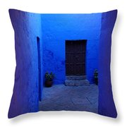 Within Bue Walls Throw Pillow