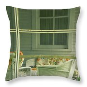 Within The Screened Porch Throw Pillow