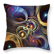 Without A Straight Line Throw Pillow