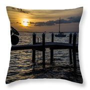 Without A Worry Throw Pillow
