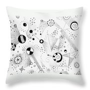 Without Gravity Throw Pillow