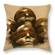 Some Heads Throw Pillow