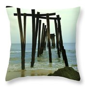 Without Pier Throw Pillow