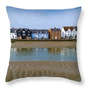 Wivenhoe Waterfront Throw Pillow by Gary Eason