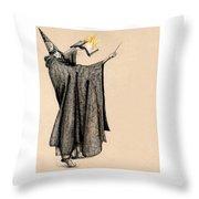 Wizard Of Orange Throw Pillow