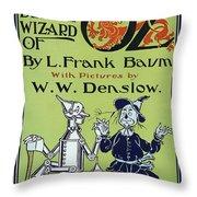 Wizard Of Oz Book Cover  1900 Throw Pillow