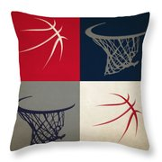 Wizards Ball And Hoop Throw Pillow