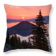 Wizzard Island Sunrise 4 Throw Pillow