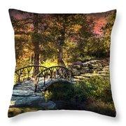Woddard Park Bridge II Throw Pillow